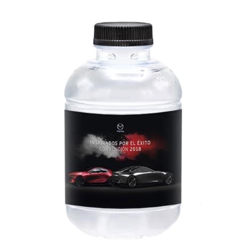 25cl Botella Barcelona rPET. Etiqueta Papel a todo color. Tapón negro
